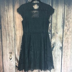 BB Dakota Little Black Dress Lacy Size 8